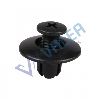 VCF1044 10 Pieces Push-Type Retainer, Black, Long for Mazda : FB01-56-964, Nissan: 63876-95596, Honda: 90675-SB3-003