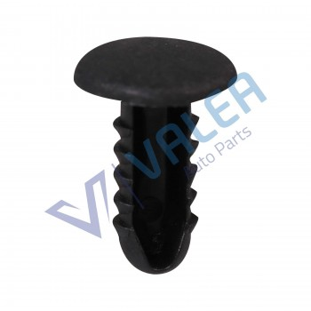 VCF1982 10 Pieces Fir Tree Fastener Black Nylon for Renault: 7703077080