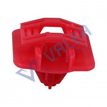 VCF2313 10 Pieces Side Moulding Clip for Renault Red Nylon
