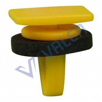 VCF87 10 Pieces Body Side Moulding Clip with Sealer, Yellow for Hyundai : 87756-4A000