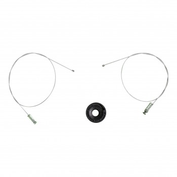 VWR1010 Window Regulator Repair Kit Rear; Left for Jaguar XK8/XKR Cabriolet Convertible CC 1996–2006