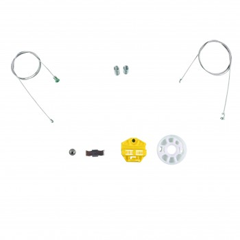 VWR195 Window Regulator Repair Kit; Rear Left Right Door for Opel Vauxhall Holden Astra G
