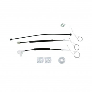 VWR543 Window Regulator Repair Kit Front; Left Door for Skoda Octavia Skoda Octavia MK2 Typ 1Z 2004-2008